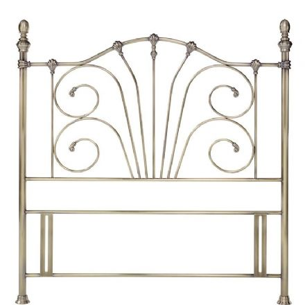 Rebecca Antique Brass Double Headboard